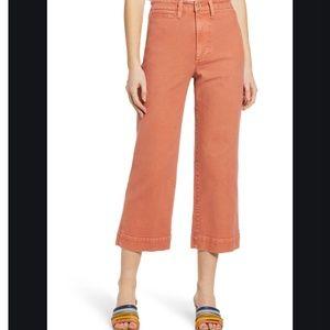 Make Offer Madewell Slim Emmett Wide-Leg Crop Pant